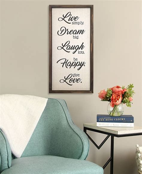 """3 piece wall art, live laugh love, aesthetic wall art, live laugh love sign, live love laugh, printable wall art, statement wall decor. Stratton Home Décor Stratton Home Decor """"Live, Dream, Laugh, Happy, Love"""" Wall Decor & Reviews ..."""