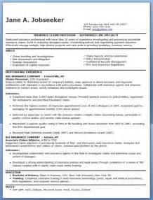 insurance claims processor resume templates insurance claims processor resume exles resume downloads