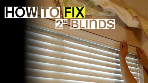 """2"""" Blinds Won't Tilt Open Or Close? Here's A Fix Youtube"""