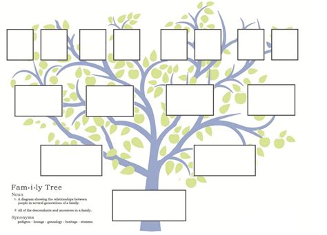 family tree template google free family tree template to print search grandparents pinte