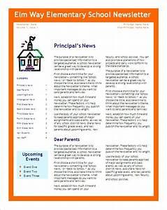 school newsletter templates madinbelgrade With free online newsletter templates pdf