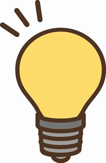 Bulb Clipart Yellow Electric Sticker Transparent Clip