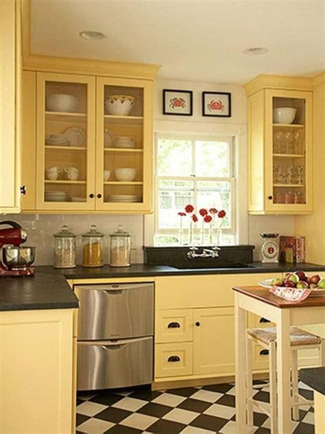 Yellow Kitchen Cupboards by The Best Kitchen Colour Combinations For Retro Kitchen