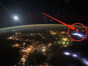 Astronauts captured a rare image of a giant red sprite ...