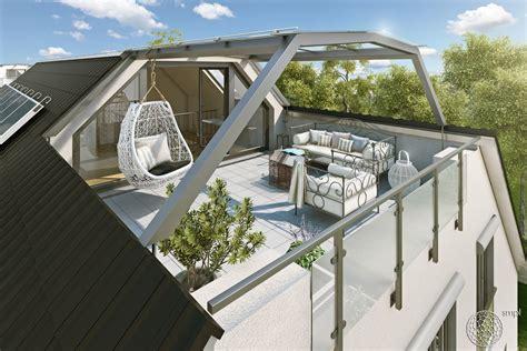 Mit Dachterrasse by 3d Architektur Visualisierung Einer Dachterrasse F 252 R Einen