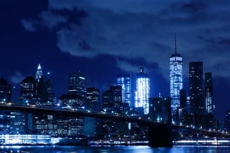 york night skyline  stock photo public domain