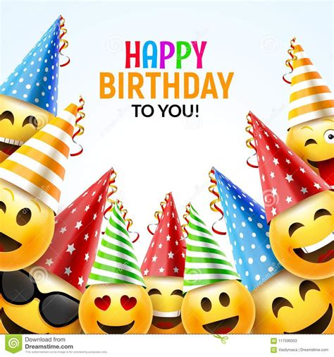 Birthday Card Background 3d by Birthday Happy Smile Greeting Card Vector Birthday