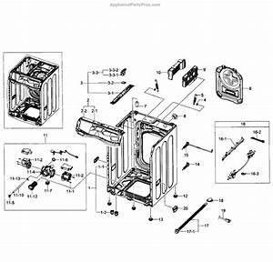 Samsung Dc96-01585d Drain Pump Assy
