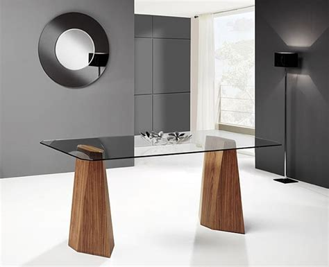 bureau bois et m騁al pied de table contemporain maison design sphena com