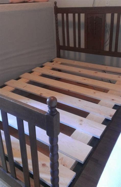 fix  box spring  bed slats  underenlightened