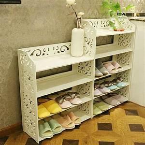 White, Pvc, Carving, Shoe, Rack, Shelf, Storage, Home, Organizer, 3, 4, 5, Tier, Shoe, Shoes, Rack, Holder