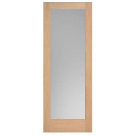 wood interior doors home depot masonite 40 in x 84 in maple veneer 1 lite solid wood interior barn door slab 82383 the home