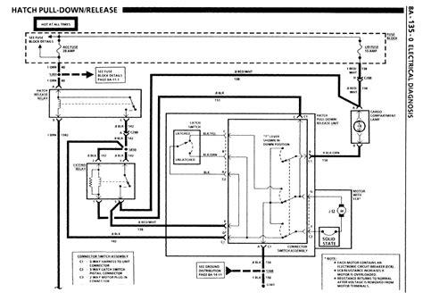 Rear Hatch Motor Wiring Diagram Third Generation Body