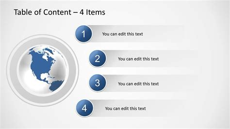 Table Of Contents Template Powerpoint
