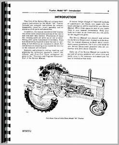 John Deere 60 Tractor Service Manual