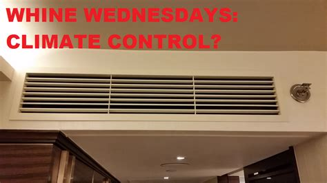 whine wednesdays climate control  hotel rooms