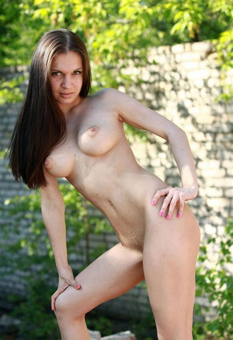 Beautiful Brunette With Gorgeous Body And Amazing big boobs Outdoors russian Sexy Girls