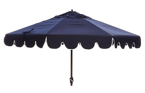 phoebe scallop edge patio umbrella navy patio umbrellas