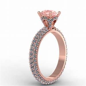 14kt rose gold morganite diamond engagement ring do the for Rose gold morganite wedding rings