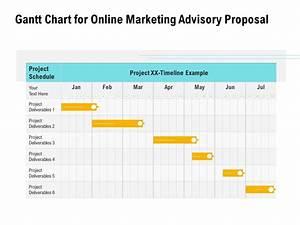 Gantt Chart For Online Marketing Advisory Proposal Ppt
