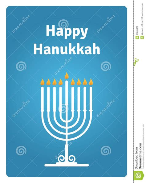 Hanukkah Card Candle Stock Vector Image Of Happy, Faith