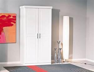 Kleiderschrank 2 Türig Weiß : kleiderschrank hakon kiefer wei lackiert 2 t rig ~ Indierocktalk.com Haus und Dekorationen