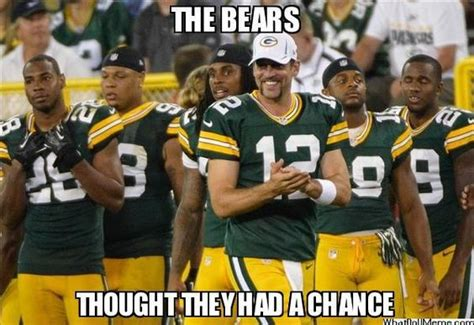 Bears Packers Meme - nfl humor green bay packer memes pinterest best games aaron rodgers and humor