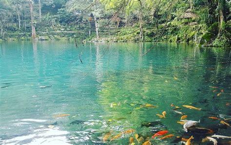 telaga cicerem kuningan danau biru  terkenal
