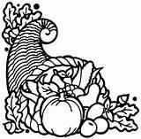Cornucopia Clip Clipart Coloring Plenty Fruit Horn Thanksgiving Pages Printable Basket Symbol Advertisement Symbols sketch template
