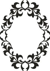 vintage silhouette cameo frame clipart monogram clipground