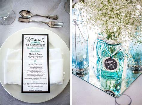 teal turquoise decoratie bruiloft wedding thema blauw