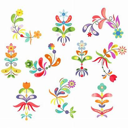 Flower Pattern Clipart Patterns Clip Embroidery Digitizing