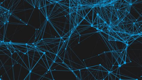 Animated Technology Wallpaper - technology network loop background blue animated lines