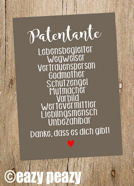 patentante postkarte patentante gl 252 ckwunschkarte