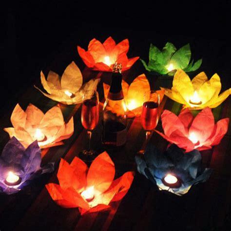 10pcs summer lotus flower chinese water light paper