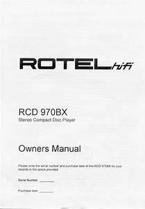 Rcd 970bx Manuals
