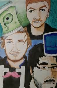 Jacksepticeye Markiplier and PewDiePie Drawing