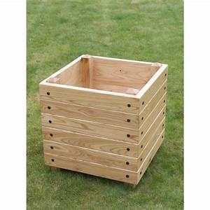 Bac Bois Potager : bac carre en bois jardin teciverdi ~ Melissatoandfro.com Idées de Décoration