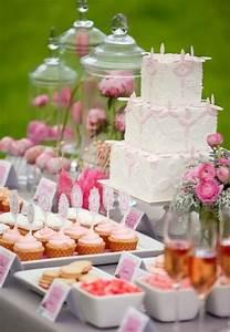 65 pink bridal shower ideas happyweddcom With wedding shower dessert table