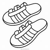 Sandals Coloring Sandal Shoes Icon Flip Flop Summer Slippers Pages Getcolorings Printable sketch template