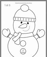 Coloring Snowman Kitty Hello Crafts Maestramary Altervista sketch template