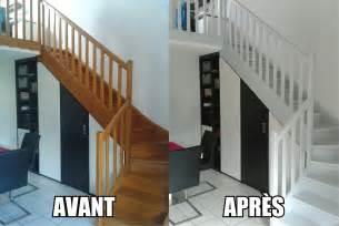 Peinture Un Escalier En Bois peindre un escalier en bois les petits travaux de flo