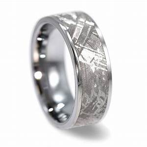 mens wedding ring gibeon meteorite tungsten by jewelrybyjohan With meteor rock wedding rings