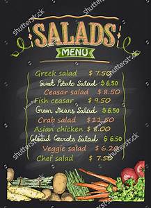 14  Delightful Salad Bar Menu Templates