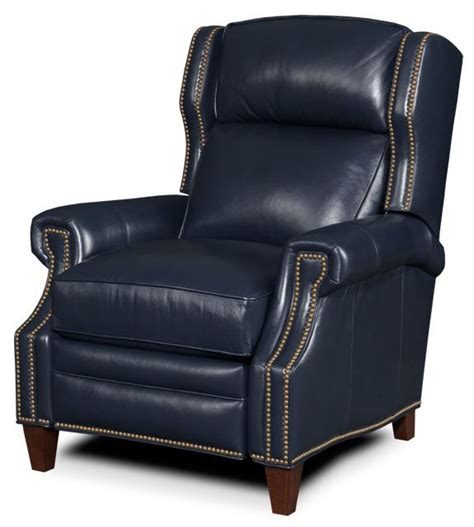 navy blue leather recliner quot quot leather recliners