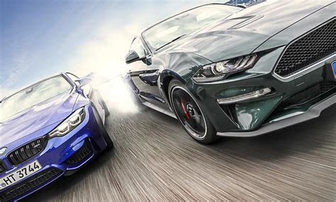 Bmw M4 Competition Ford Mustang Bullitt Test by Bmw M4 Competition Paket Ford Mustang Bullitt Test