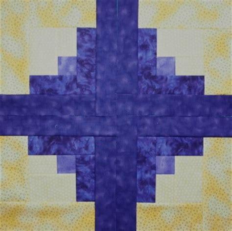 centre log cabin quilt block quilts