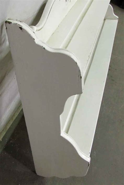 white wooden wall plate rack olde good