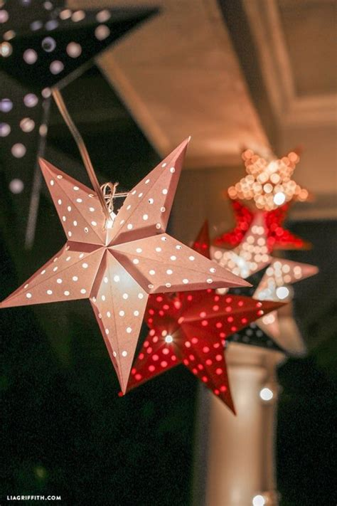 paper cut star garland  lia griffith project home