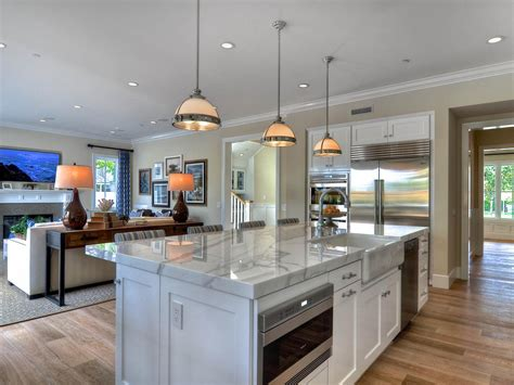 open kitchen floor plans with islands decor pendant lighting and large kitchen island with sofa 9007